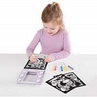 Ballerina Scenes Magic Velvet coloring pad.