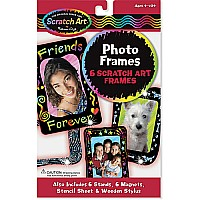 Photo Frames Scratch Art Set