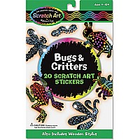 Bugs and Critters Scratch Art Stickers (3343)