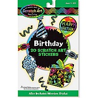 Birthday Scratch Art Stickers (3369)