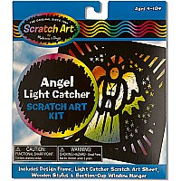 Angel Light Catcher Scratch Art Kit