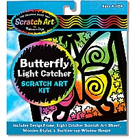 Butterfly Light Catcher Scratch Art Kit (3362)