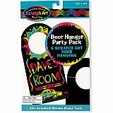 Door Hanger Scratch Art Party Pack