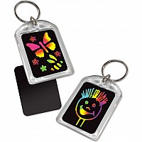 Key Chain Scratch Art Party Pack