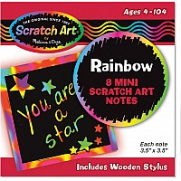 Rainbow Mini Scratch Art Notes (in Display)