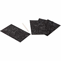 Scratch Art Color-Reveal Pictures - Dinosaurs