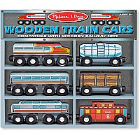 641 Train Cars Wooden