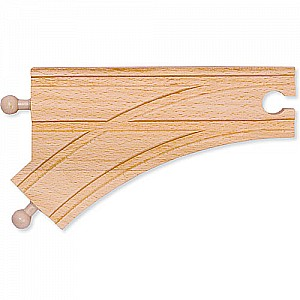 "6"" Curved Switch Track-Male"