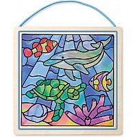 """stained Glass"" Undersea Fantasy"