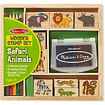 Stamp Set Wooden - Safari Animals