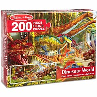 200 Piece Floor Puzzle - Dinosaur World