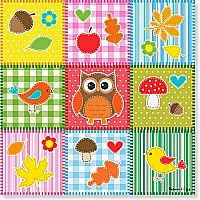 30 pc Autumn Quilt Cardboard Jigsaw