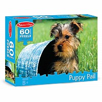 60 pc Puppy Pail Cardboard Jigsaw
