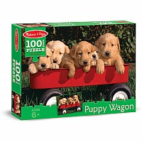 100 pc Puppy Wagon Cardboard Jigsaw