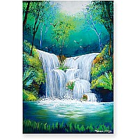 200 pc Woodland Waterfall Cardboard Jigsaw