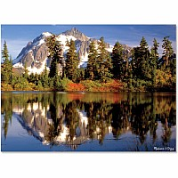 0300 pc Mountain Reflection Cardboard Jigsaw