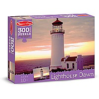 300 pc Lighthouse Dawn Cardboard Jigsaw Puzzle