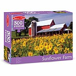 0300 pc Sunflower Farm Cardboard Jigsaw