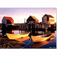500 pc Golden Docks Cardboard Jigsaw Puzzle