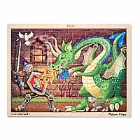 0048 Piece Wooden Jigsaw Puzzle Knight vs. Dragon