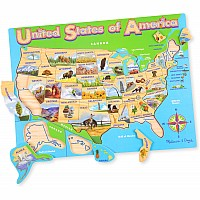 Wooden Puzzle- USA Map