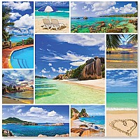 1,000 pc Photos from Paradise Cardboard Jigsaw Puzzle