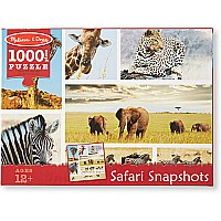 1,000 pc Safari Shapshots Cardboard Jigsaw Puzzle