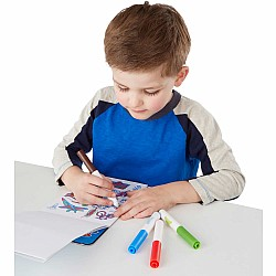 Color-Your-Own Sticker Pad - Blue