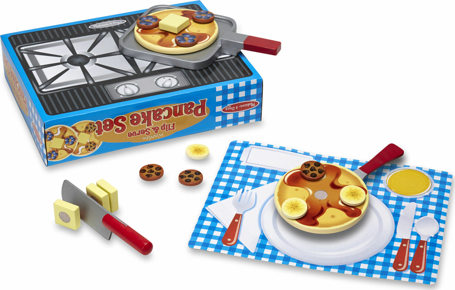 Wooden Flip and Serve Pancake Set