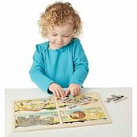 4-in-1 Safari Jigsaw Puzzle
