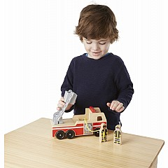 Classic Wooden Fire Truck Play Set