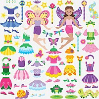 Reusable Puffy Stickers - Fairy