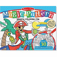 Magic-Patterns Coloring Pad - Blue