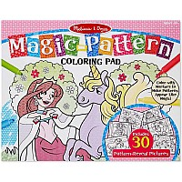 Pink Magic Patterns Coloring Pad