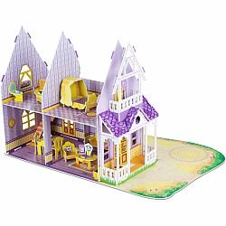 3D Puzzle - Pretty Purple Dollhouse