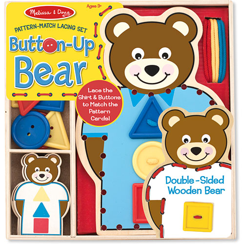 Button Up Bear Pattern Match Lacing Set Homewood Toy Hobby
