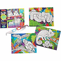 3D Colouring Pad - Animals
