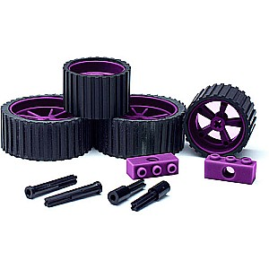 MeeperBOT 2.0 Wheel/Axle 4Pk. Wild Berry (Purple)