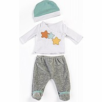 2 Piece Pajama Set In Grey 15.75""