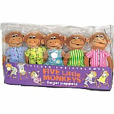 Five Little Monkeys Finger Puppet Playset
