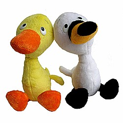 "MerryMakers DUCK & GOOSE 9"" Doll Pair"