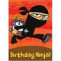 Ninja Birthday Card