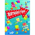 Fish Party Foil Card