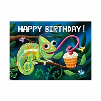 Chameleon Googly Eyes Birthday Card