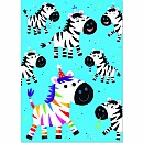 Zebra Googly Eyes Card