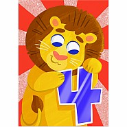 Lion Four Year Old Card
