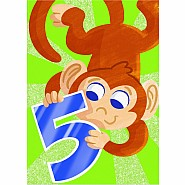 Monkey Five Year Old Card