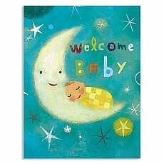 Baby On Moon Gift Enclosure Card