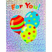 Balloons Foil Gift Enclosure Card