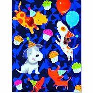 Dog Party Foil Gift Enclosure Card